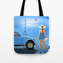 French blue Tote Bag