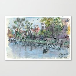Venice Beach Canals Canvas Print