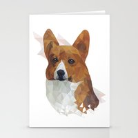 corgi Stationery Cards featuring CORGI // by kitschchris