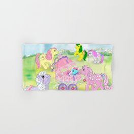 g1 my little pony backcard inspired collage Hand & Bath Towel