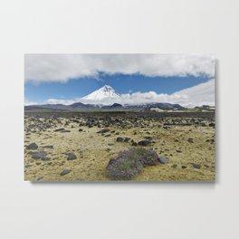 Beautiful mountain landscape, view volcano and tundra on Kamchatka Peninsula Metal Print