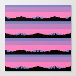 Abstract mountains horizons Canvas Print