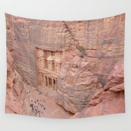 View Over the Treasury, Petra, Jordan Wall Tapestry