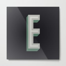 Type Seeker - E Metal Print