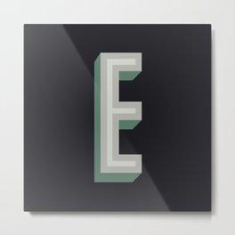 Type Seeker - E Metal Print