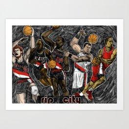 Blazers Art Print