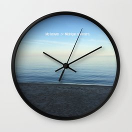 Michigan Summers Wall Clock
