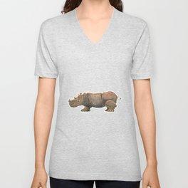 Thinking Rhinoceros Unisex V-Neck