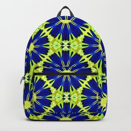 Blue Green vector abstract floral background Backpack