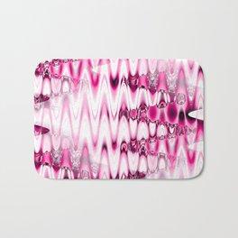 Warped Glass in pink Bath Mat