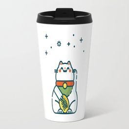 Maneki-Neko Lucky Cat Travel Mug