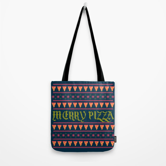 Merry Pizza Tote Bag