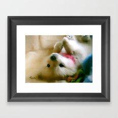 PUPPY PAWS Framed Art Print