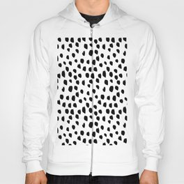 Handdrawn drops and dots on white-Mix & Match with Simplicty of life Hoody