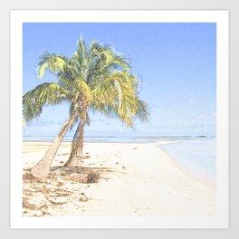 Palm in the beach Art Print