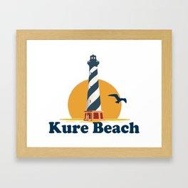 Kure Beach - North Carolina. Framed Art Print
