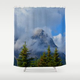 Ha Ling Mountain Peak, Canmore, Canada Shower Curtain