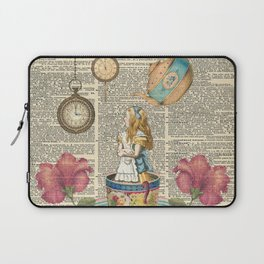 It's Always Tea Time - Alice In Wonderland Laptop Sleeve