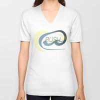 rush V-neck T-shirts featuring Rush  by Sammy Cee