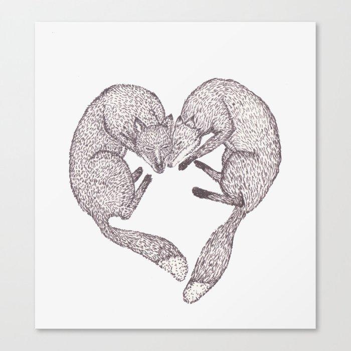 Fox Heart Canvas Print