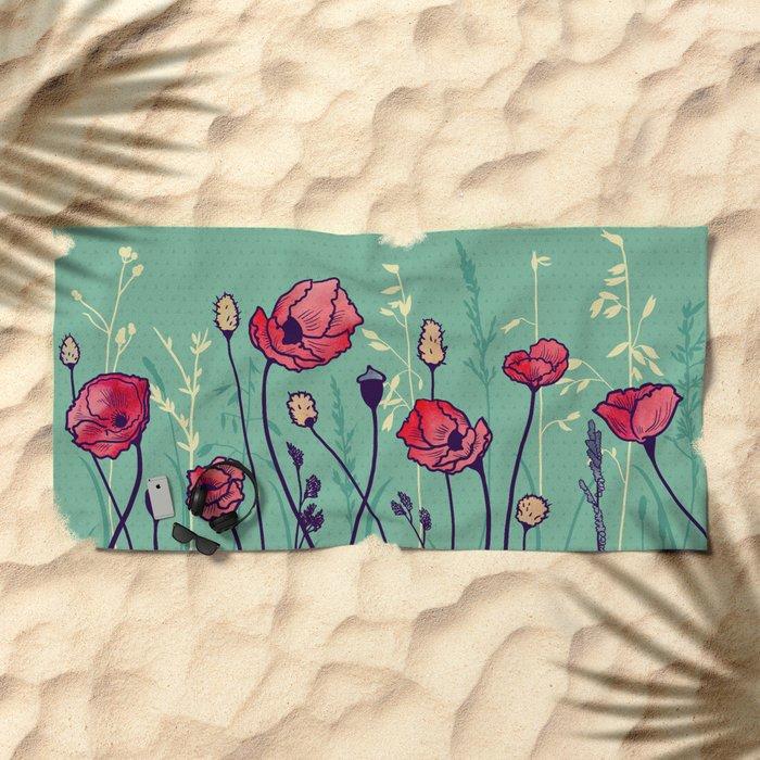 Summer Field Beach Towel