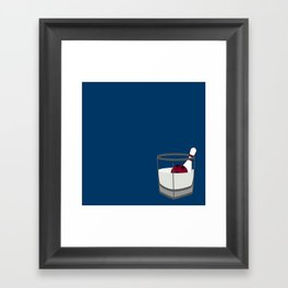 Hey, careful, man, there's a beverage here!  Framed Art Print
