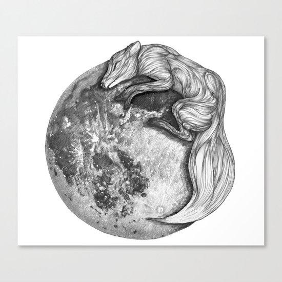 Moon Fox Canvas Print