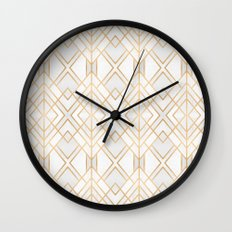 Golden Geo Wall Clock