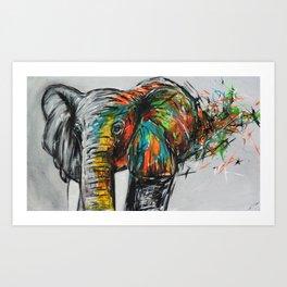 happy dumbo Art Print