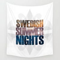 swedish Wall Tapestries featuring Swedish summer nights by IVΛN TRØWE