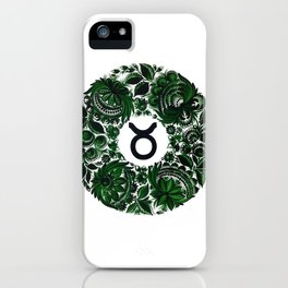 Taurus in Petrykivka Style (without artist's signature/date) iPhone Case