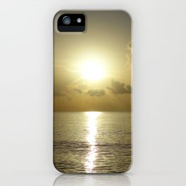 seaside sunrise iPhone Case