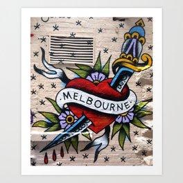 IheartMelbourne Art Print