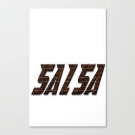 Salsa Satin Over Canvas Print
