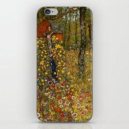 """Gustav Klimt """"Farm Garden with Crucifix """" iPhone Skin"""