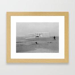 Wright Brothers First Flight Framed Art Print