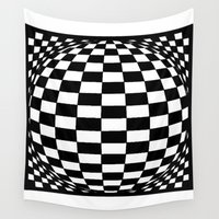 grid Wall Tapestries featuring Grid by Ghost