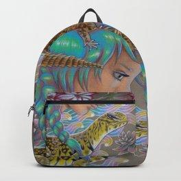 Desert Rose,Uromasyx Lizard Art Backpack