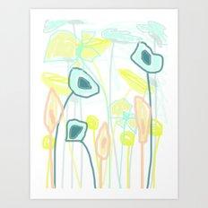 Mix of Flowers Art Print