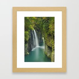 The Takachiho Gorge on the island of Kyushu, Japan Framed Art Print