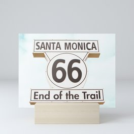Travel photography Santa Monica XIV 66 End of the Trail Mini Art Print
