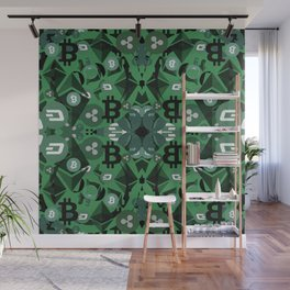 Beautiful cryptocurrencies pattern Wall Mural
