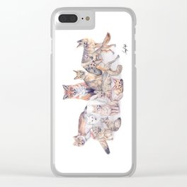 Foxes of the World Clear iPhone Case