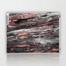 Modern rose gold abstract marbleized paint Laptop & iPad Skin