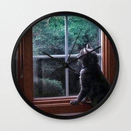 Cat 3 Wall Clock