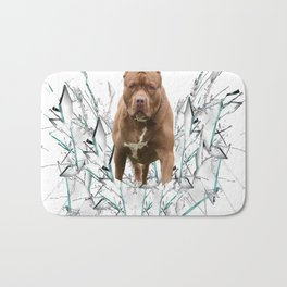 car stickers pitbull gift shirt dog Bath Mat