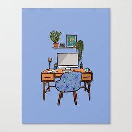 Ideal Workspace | Purple Canvas Print