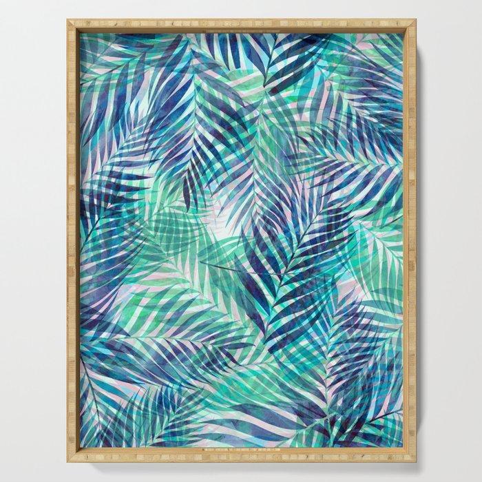 Palm Leaves - Indigo Green Serving Tray