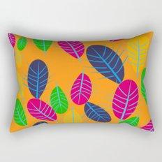Fall Leaves Pop Pattern Design Rectangular Pillow