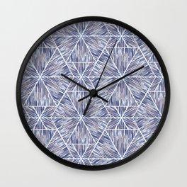 Ethnic ikat pattern. Wall Clock